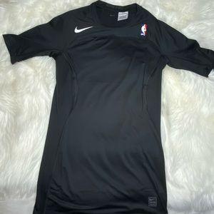 Nike NBA Hypercool Black Compression Sleeved Shirt